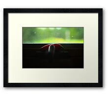 Red Hot Chili Pepper on a Window Crank Framed Print