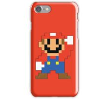 Super Mario Maker - Modern Mario Costume Sprite iPhone Case/Skin