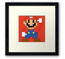 Super Mario Maker - Modern Mario Costume Sprite Framed Print