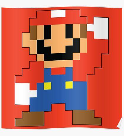 Super Mario Maker - Modern Mario Costume Sprite Poster