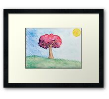 Eight Realms: Background #4... water colors... Framed Print