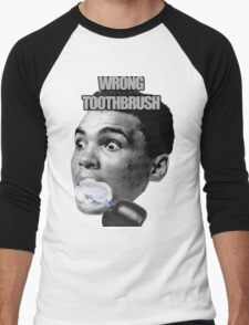 Wrong Toothbrush Men's Baseball ¾ T-Shirt