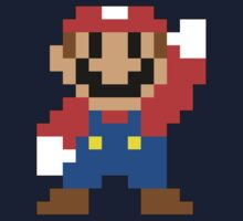Super Mario Maker - Modern Mario Costume Sprite One Piece - Long Sleeve
