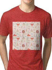 Tribal Animal Seamless Patterns Tri-blend T-Shirt