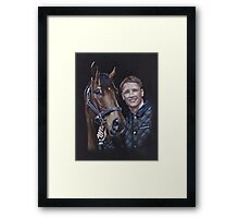 Michael Owen and Brown Panther Framed Print