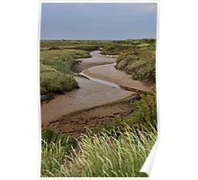 Blakeney mudflats and saltmarsh Poster