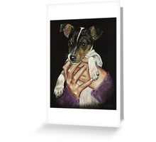 Puppy power! Greeting Card
