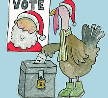 A Turkey Voting For Christmas by AndyLanhamArt