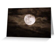 """Super-Moon"" Greeting Card"