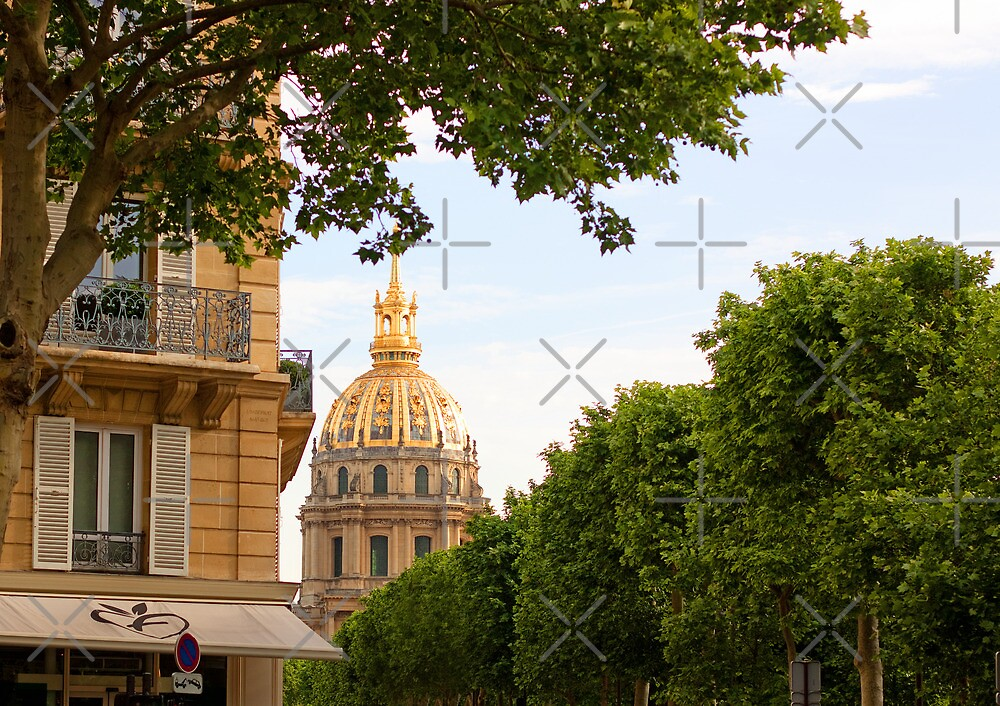 Dome of the Hotel des Invalides - Paris France by Buckwhite