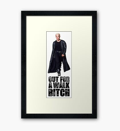 Out for a walk. Bitch. Framed Print