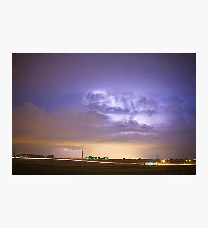 I25 Intra-Cloud Lightning Strikes Photographic Print