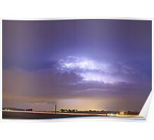 25 to 34 Intra-Cloud Lightning Thunderstorm Poster
