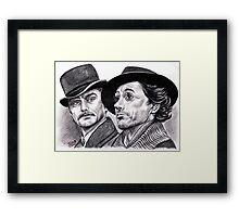 Robert Downey Jr and Jude Law, Sherlock and Watson Framed Print