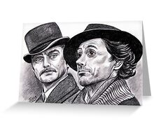 Robert Downey Jr and Jude Law, Sherlock and Watson Greeting Card