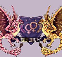 ~~Heraldic Queer Lady Dragons~~ by Sylvia Kaczmarek