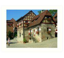 Casas  que componen el rededor del castillo.......  Art Print