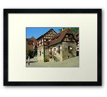 Casas  que componen el rededor del castillo.......  Framed Print