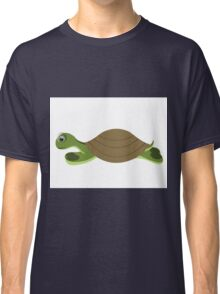 isolated big  green turtle on white background Classic T-Shirt