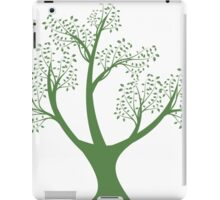 Green art tree silhouette  iPad Case/Skin