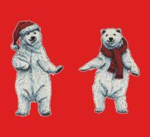 The polar bears wish you a Merry Christmas One Piece - Long Sleeve