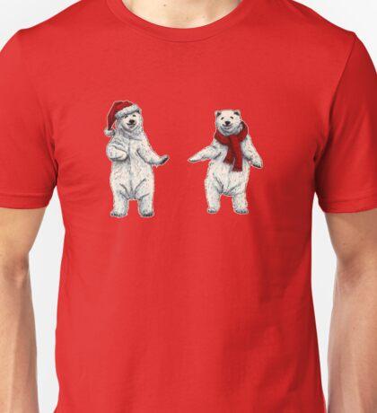 The polar bears wish you a Merry Christmas Unisex T-Shirt