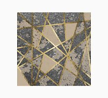 Black Modern Glitter Geo Gold Triangles Classic T-Shirt