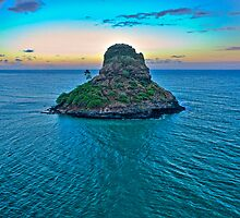 China Man's Hat - Kualoa Beach Park by Silas Leger