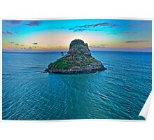 China Man's Hat - Kualoa Beach Park Poster