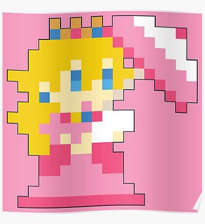 Super Mario Maker - Princess Peach Costume Sprite Poster