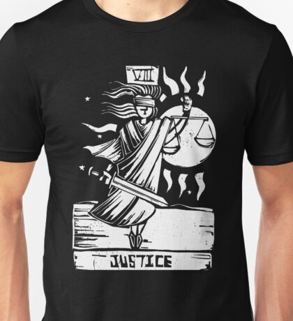 Justice - Tarot Cards - Major Arcana Unisex T-Shirt