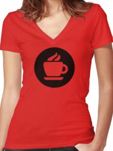Coffee Ideology Women's Fitted V-Neck T-Shirt