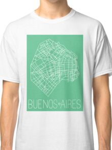 Buenos Aires Map - Mint Classic T-Shirt
