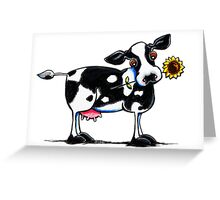 Sunny Dairy Cow Greeting Card