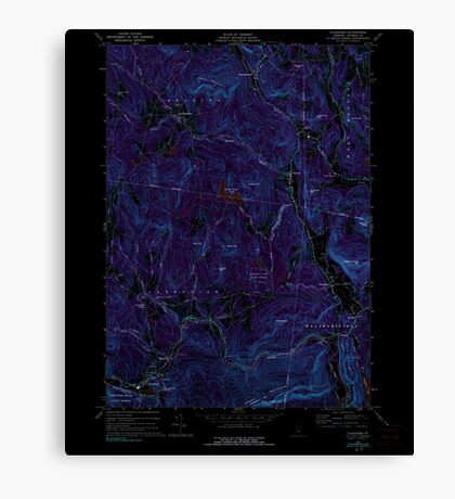 USGS Topo Map  Vermont VT Cavendish 337360 1972 24000 Inverted Canvas Print
