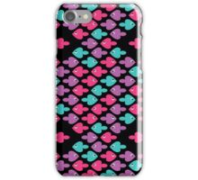 colorful cartoon fishes pattern as heart for holiday iPhone Case/Skin