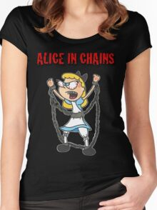 """Alice In Chains"" Women's Fitted Scoop T-Shirt"