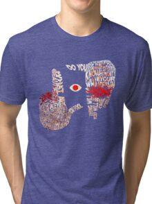 Hellsing - Alucard Typography Tri-blend T-Shirt