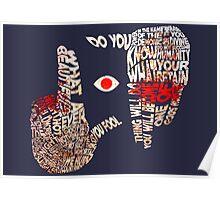 Hellsing - Alucard Typography Poster