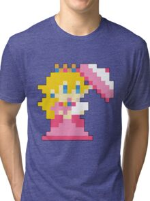Super Mario Maker - Princess Peach Costume Sprite Tri-blend T-Shirt