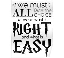 What is Right and What is Easy Poster