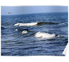 Lake Michigan Waves, Sheboygan, Wisconsin Poster