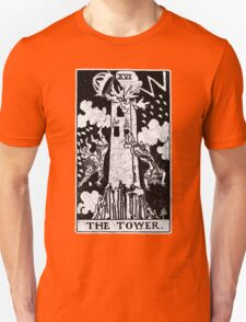 The Tower Tarot Card - Major Arcana - fortune telling - occult Unisex T-Shirt