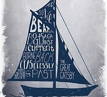 Great Gatsby Boat Quote by bootzelle