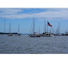 Sail Boats In The Harbor Photographic Print