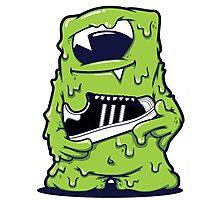 Light Green Monster shoes Art Design Monster Photographic Print
