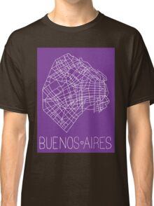 Buenos Aires Map - Purple Classic T-Shirt