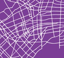 Buenos Aires Map - Purple Sticker