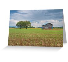 Two trees and a barn Greeting Card