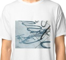 Bicycle Shadow painting cycling art Classic T-Shirt